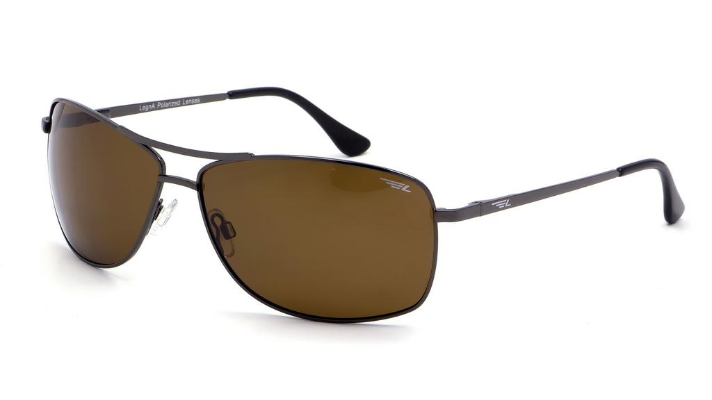 Очки поляризационные мужские Legna, цвет: коричневый. S4603BS4603BСолнцезащитные очки Legna с поляризационными линзами превосходно предохраняют глаза от любого рода вредных бликов и УФ-лучей, что делает вождение безопасным и комфортным. Также очки Legna ничем не уступают самым известным маркам и брендам в эстетической части. Благодаря линзам премиум класса очки Legna прекрасно подходят для повседневной носки, занятий спортом, отдыха и конечно для использования за рулем.