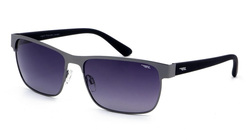 Очки мужские поляризационные Legna, цвет: черный, серый. S4604AS4604AСолнцезащитные очки LEGNA с поляризационными линзами превосходно предохраняют глаза от любого рода вредных бликов и УФ-лучей, что делает вождение безопасным и комфортным. Также очки LEGNA ничем не уступают самым известным маркам и брендам в эстетической части. Благодаря линзам премиум класса очки LEGNA прекрасно подходят для повседневной носки, занятий спортом, отдыха и конечно для использования за рулем.