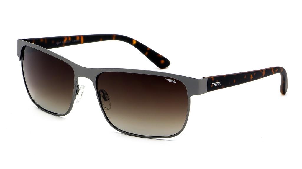 Очки поляризационные мужские Legna, цвет: коричневый. S4604BS4604BСолнцезащитные очки Legna с поляризационными линзами превосходно предохраняют глаза от любого рода вредных бликов и УФ-лучей, что делает вождение безопасным и комфортным. Также очки Legna ничем не уступают самым известным маркам и брендам в эстетической части. Благодаря линзам премиум класса очки Legna прекрасно подходят для повседневной носки, занятий спортом, отдыха и конечно для использования за рулем.