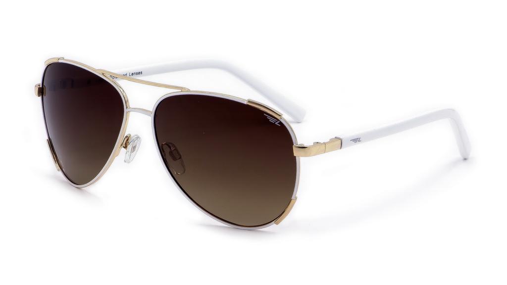 Очки женские поляризационные Legna, цвет: белый, коричневый. S4607AS4607AСолнцезащитные очки LEGNA с поляризационными линзами превосходно предохраняют глаза от любого рода вредных бликов и УФ-лучей, что делает вождение безопасным и комфортным. Также очки LEGNA ничем не уступают самым известным маркам и брендам в эстетической части. Благодаря линзам премиум класса очки LEGNA прекрасно подходят для повседневной носки, занятий спортом, отдыха и конечно для использования за рулем.