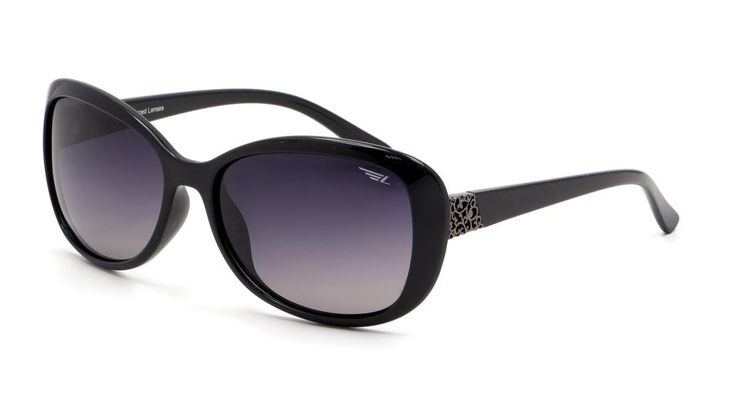 Очки поляризационные женские Legna, цвет: черный, серый. S8404CS8404CСолнцезащитные очки Legna с поляризационными линзами превосходно предохраняют глаза от любого рода вредных бликов и УФ-лучей, что делает вождение безопасным и комфортным. Также очки Legna ничем не уступают самым известным маркам и брендам в эстетической части. Благодаря линзам премиум класса очки Legna прекрасно подходят для повседневной носки, занятий спортом, отдыха и конечно для использования за рулем.