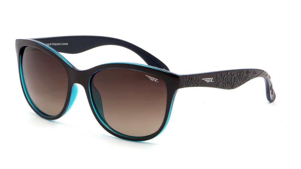 Очки поляризационные женские Legna, цвет: зеленый, коричневый. S8601BS8601BСолнцезащитные очки Legna с поляризационными линзами превосходно предохраняют глаза от любого рода вредных бликов и УФ-лучей, что делает вождение безопасным и комфортным. Также очки Legna ничем не уступают самым известным маркам и брендам в эстетической части. Благодаря линзам премиум класса очки Legna прекрасно подходят для повседневной носки, занятий спортом, отдыха и конечно для использования за рулем.