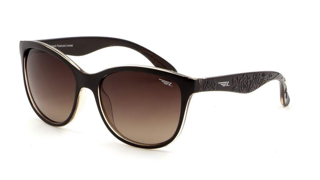 Очки поляризационные женские Legna, цвет: коричневый. S8601CS8601CСолнцезащитные очки Legna с поляризационными линзами превосходно предохраняют глаза от любого рода вредных бликов и УФ-лучей, что делает вождение безопасным и комфортным. Также очки Legna ничем не уступают самым известным маркам и брендам в эстетической части. Благодаря линзам премиум класса очки Legna прекрасно подходят для повседневной носки, занятий спортом, отдыха и конечно для использования за рулем.