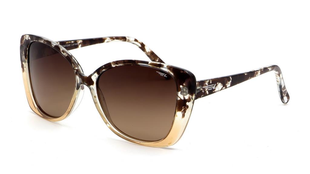 Очки поляризационные женские Legna, цвет: коричневый. S8603BS8603BСолнцезащитные очки Legna с поляризационными линзами превосходно предохраняют глаза от любого рода вредных бликов и УФ-лучей, что делает вождение безопасным и комфортным. Также очки Legna ничем не уступают самым известным маркам и брендам в эстетической части. Благодаря линзам премиум класса очки Legna прекрасно подходят для повседневной носки, занятий спортом, отдыха и конечно для использования за рулем.