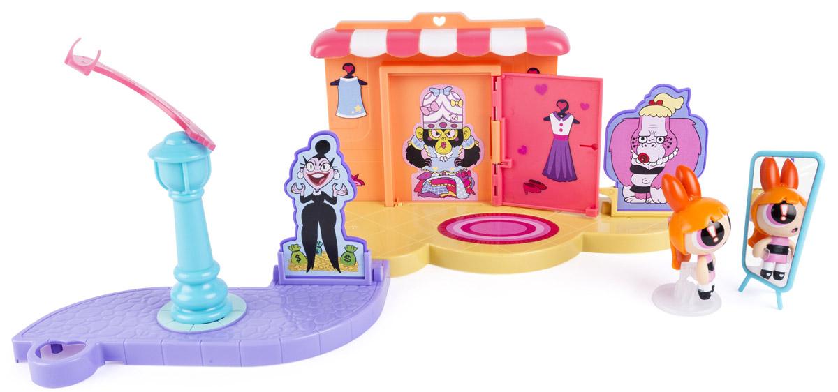 Powerpuff Girls Игровой набор Модный переполох22323_модный переполохИгрушки Powerpuff Girls основаны на мультсериале Суперкрошки. По сюжету профессор Утония планировал смешать состав и создать идеальную девочку. Но в состав случайно попал лишний ингредиент, и вместо идеальных девочек получились Суперкрошки со сверхспособностями: Пузырек, Цветик и Пестик. В игровом наборе Powerpuff Girls Модный переполох имеется входная дверь и зеркало. Пластины с изображенными на них персонажами вставляются в индивидуальные отверстия. При раскручивании на фонарном столбе Суперкрошки, пластины с персонажами упадут. Такой набор воссоздает увлекательную сценку, как будто Цветик набросилась и повалила противников.