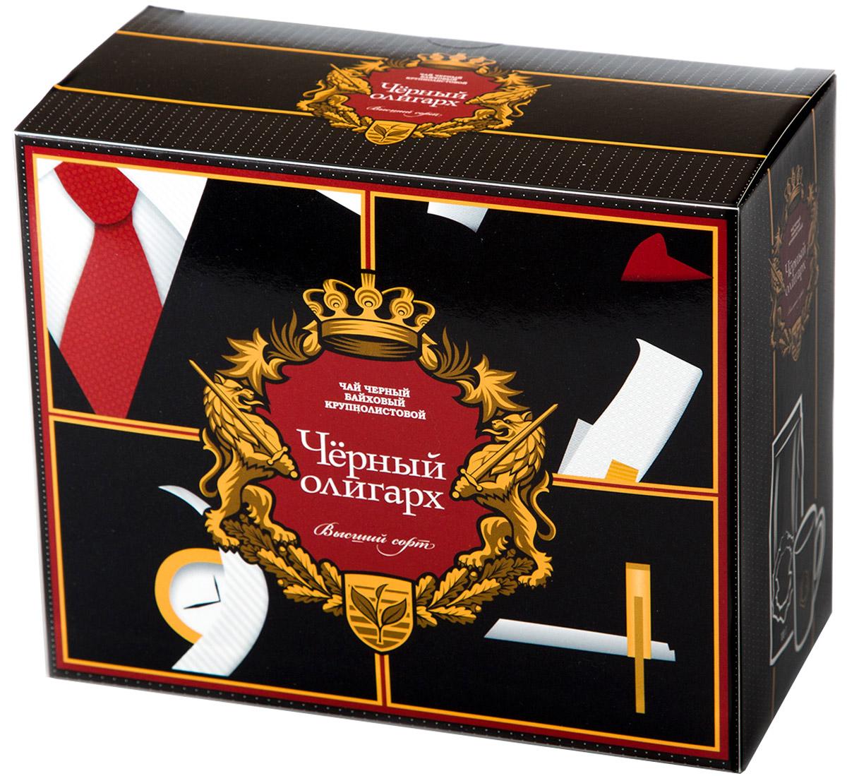 Черный Олигарх Набор подарочный чай черный крупнолистовой, 100 г + кружка 330 мл4612710550285Чай черный байховый крупно-листовой (стандарт ОРА) высшего качества. Место произрастания чайного листа - Юго-Восточная Азия. Обладает терпким насыщенным вкусом и красивым темно-красным цветом настоя. В комплекте кружка с логотипом.