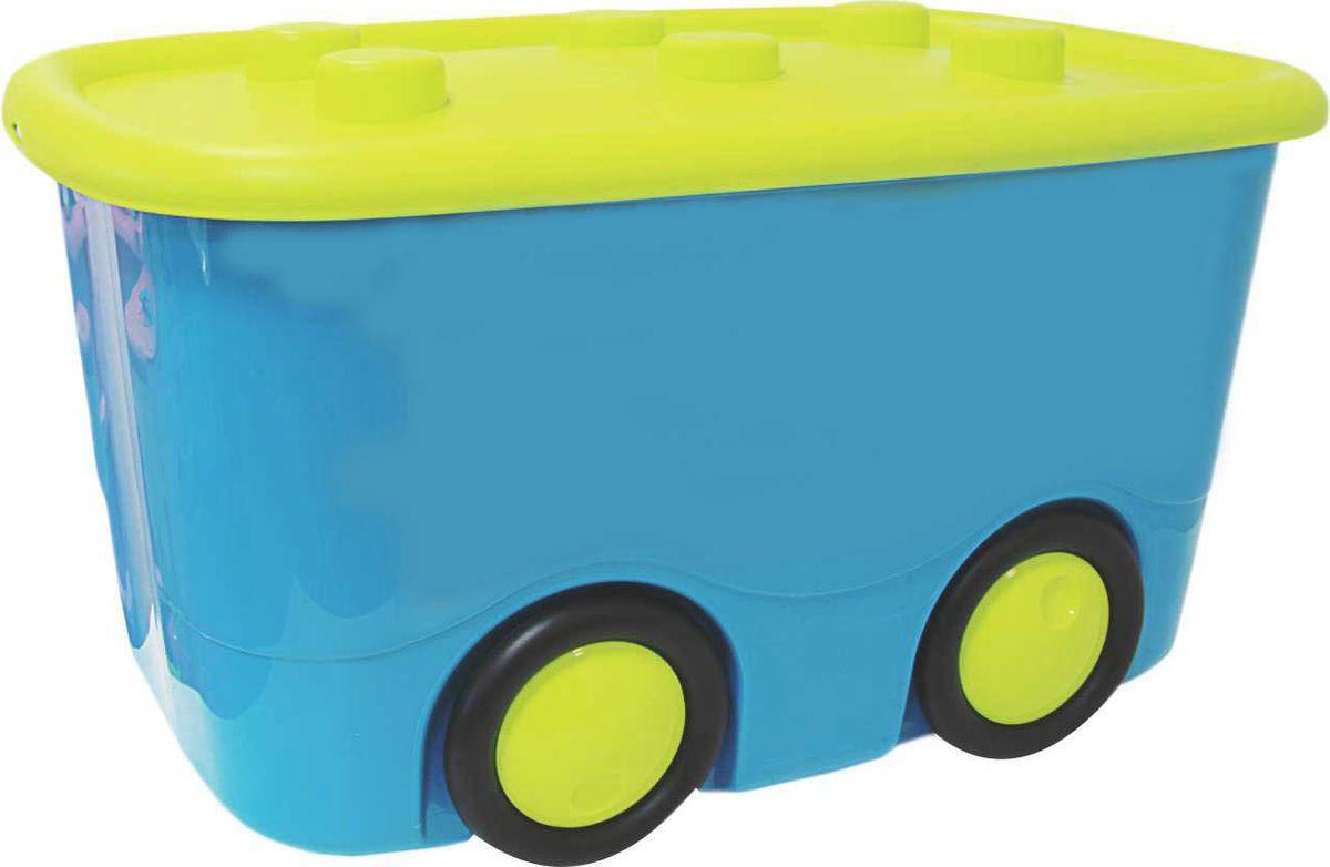 Idea Ящик для игрушек Моби цвет бирюзовый 41,5 х 60 х 32 см