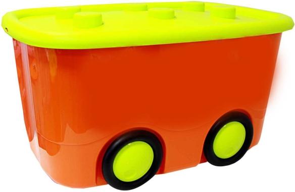 Idea Ящик для игрушек Моби цвет оранжевый 41,5 х 60 х 32 смМ 2598