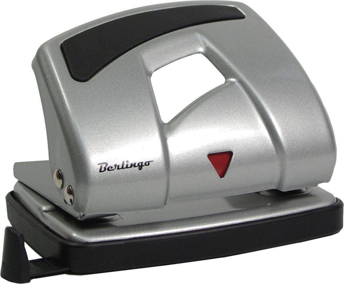 Berlingo Дырокол Ultra с линейкой на 16 листов цвет серебристый