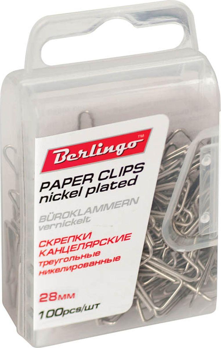 Berlingo Скрепки никелированные 28 мм 100 шт DBs_28120DBs_28120Никелированные канцелярские скрепки Berlingo стандартной круглой формы. Не ржавеют, не пачкают бумагу, обеспечивают надежное скрепление. В упаковке 100 шт.