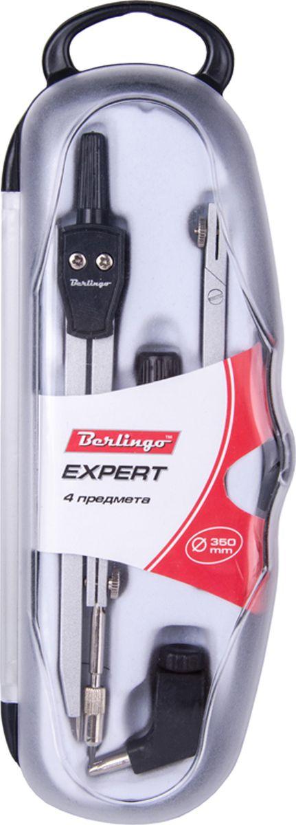 Berlingo Готовальня Expert 4 предметаDS_00404Готовальня Berlingo Expert представляет собой набор из 4 предметов: циркуль, сменный грифель, универсальный держатель, удлинитель. Набор предназначен для чертежно-графических работ.