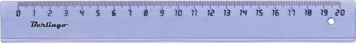 Berlingo Линейка цвет прозрачный 20 см