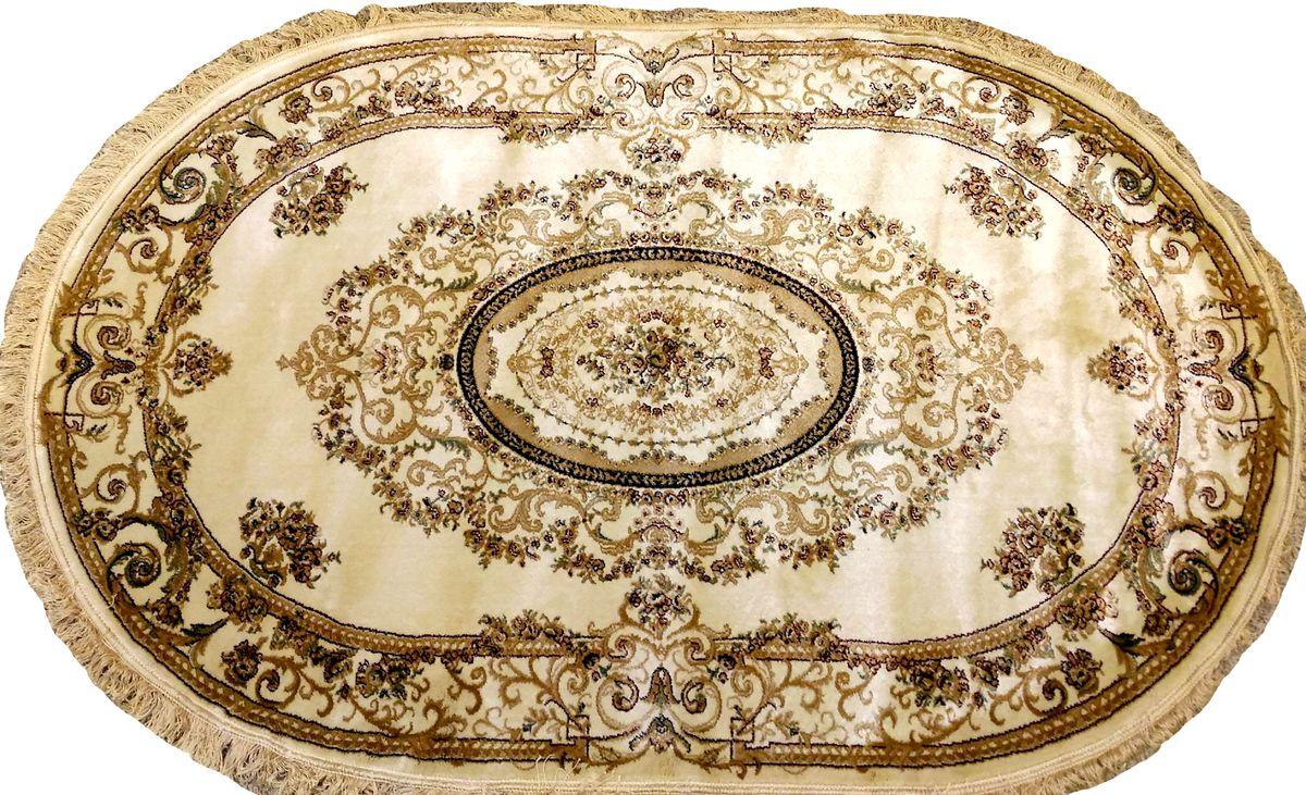 Ковер Mutas Carpet Болара - Вискоз, цвет: светло-бежевый, 120 х 180 см. 203420130212180400203420130212180400Ворс искусственная вискоза (100% полипропилен)