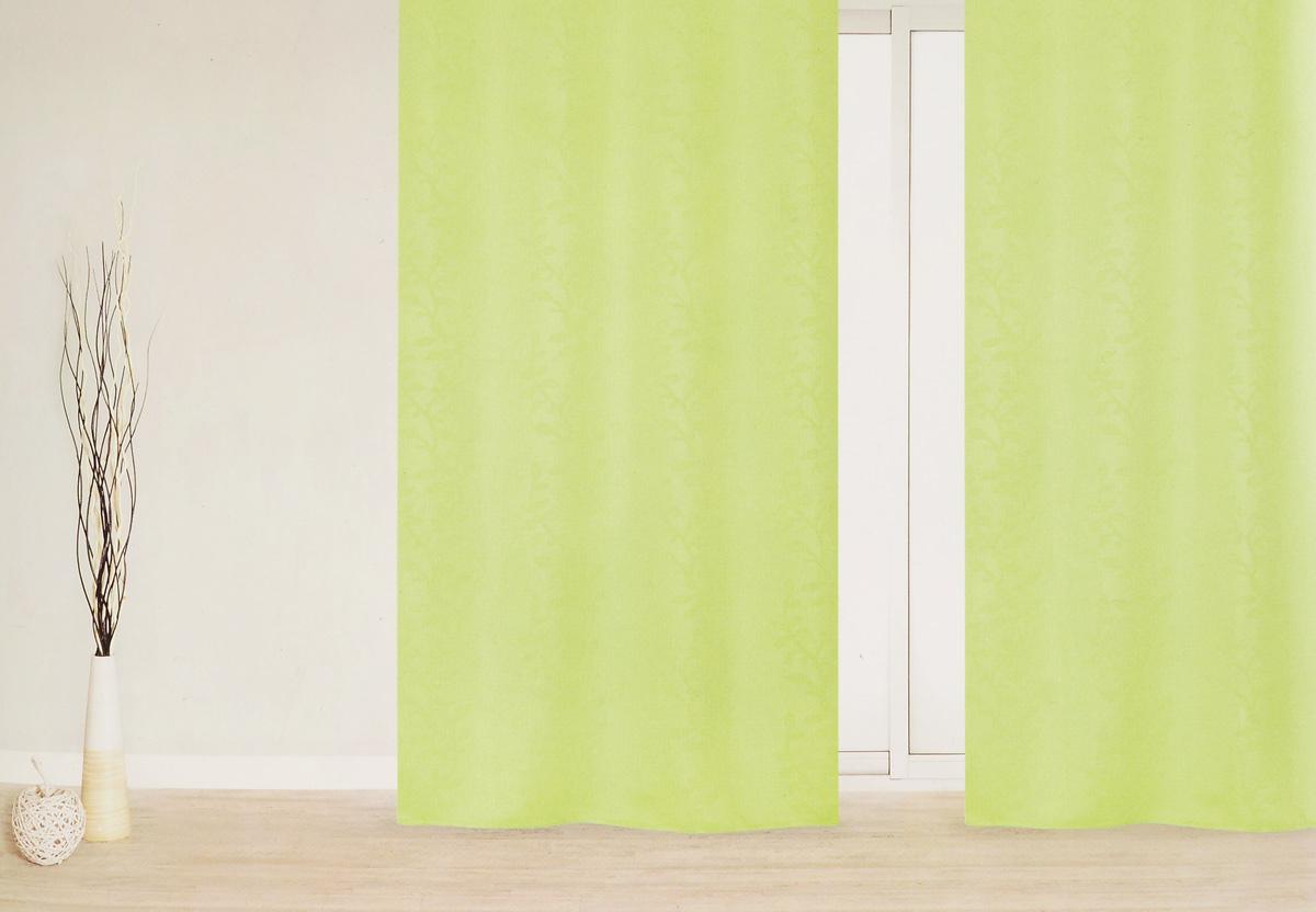 Штора Garden, на ленте, цвет: салатовый, высота 270 см. 8338183381_салатовыйГотовая штора Garden - это роскошная портьера для яркого и стильного оформления окон и создания особенной уютной атмосферы. Она великолепно смотрится как одна, так и в паре, в комбинации с нежной тюлевой занавеской, собранная на подхваты и свободно ниспадающая естественными складками. Такая штора, изготовленная полностью из прочного и очень практичного полиэстера, долговечна и не боится стирок, не сминается, не теряет своего блеска и яркости красок.