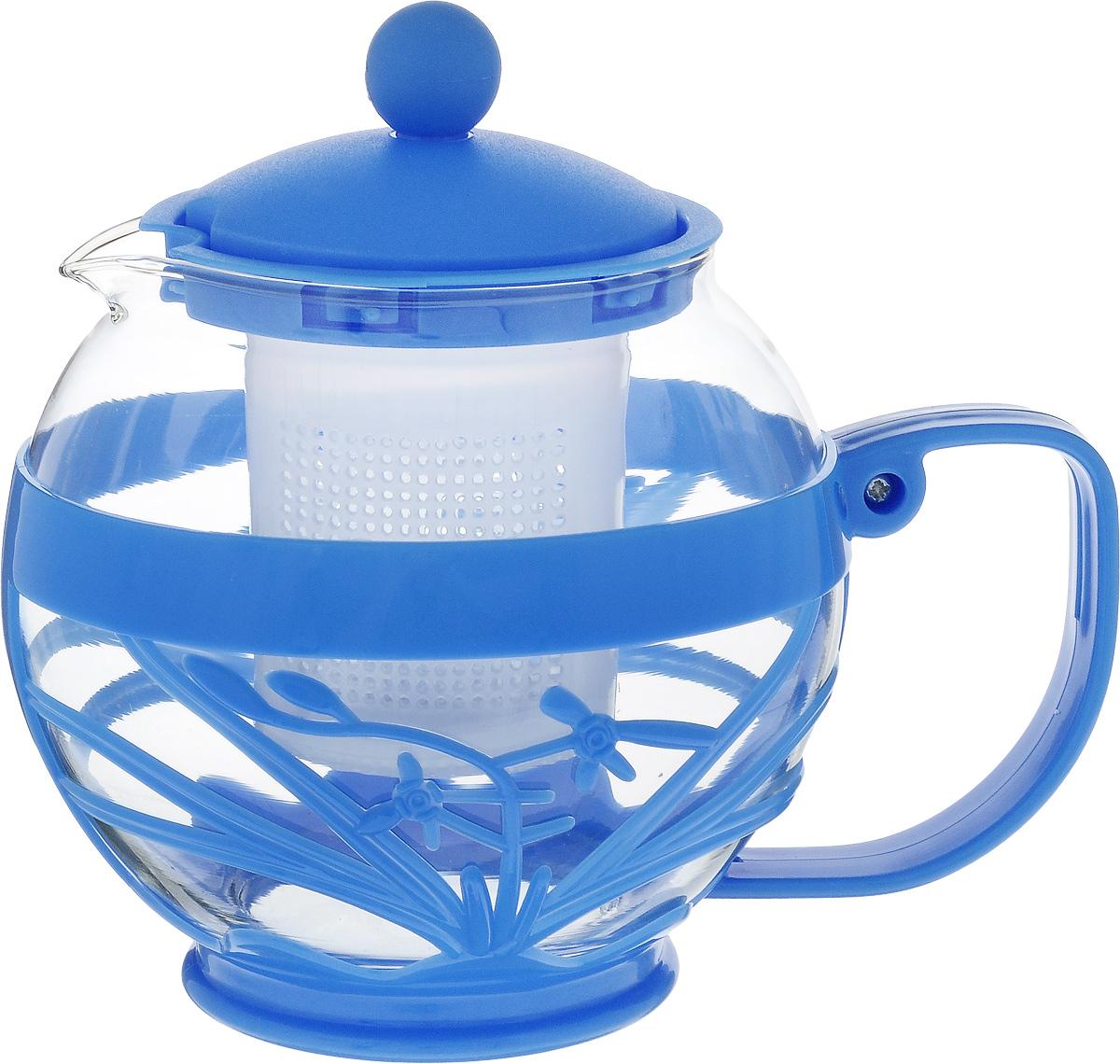 Чайник заварочный Wellberg Aqual, с фильтром, цвет: прозрачный, синий, 800 мл361 WBЗаварочный чайник Wellberg Aqual изготовлен из высококачественного пластика и жаропрочного стекла. Чайник имеет пластиковый фильтр и оснащен удобной ручкой. Он прекрасно подойдет для заваривания чая и травяных напитков. Такой заварочный чайник займет достойное место на вашей кухне. Высота чайника (без учета крышки): 11,5 см. Высота чайника (с учетом крышки): 14 см. Диаметр (по верхнему краю) 7 см.