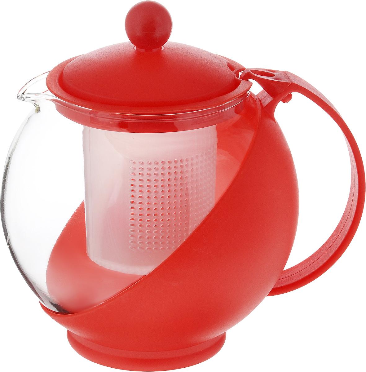 Чайник заварочный Wellberg Aqual, с фильтром, цвет: прозрачный, красный, 750 мл325 WBЗаварочный чайник Wellberg Aqual изготовлен из высококачественного пластика и жаропрочного стекла. Чайник имеет пластиковый фильтр и оснащен удобной ручкой. Он прекрасно подойдет для заваривания чая и травяных напитков. Такой заварочный чайник займет достойное место на вашей кухне. Высота чайника (без учета крышки): 11,5 см. Высота чайника (с учетом крышки): 14 см. Диаметр (по верхнему краю) 7 см.