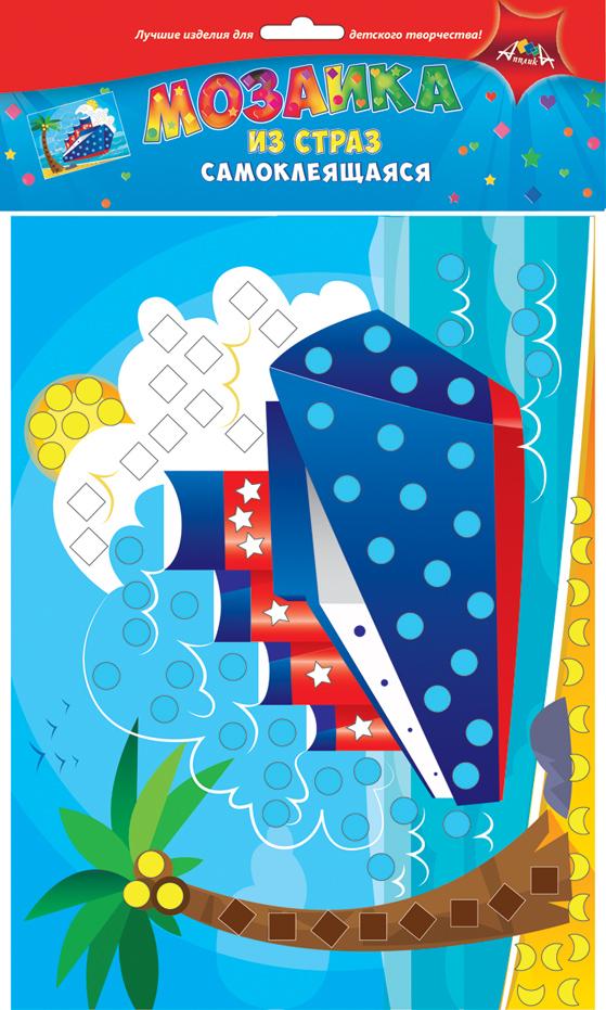 Апплика Мозаика КорабльС3081-02Мозаика для малышей из цветных самоклеящихся страз, формат А4. Набор состоит из: цветной картонной основы, цветных самоклеящихся страз. Набор для творчества Корабль. Ваш ребенок сможет сделать красивую картину своими руками и повесить их в удобное место. Сами изделия блестят на свету и будут красиво украшать комнату Вашего ребенка