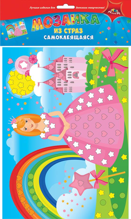 Апплика Мозаика ПринцессаС3081-04Мозаика для малышей из цветных самоклеящихся страз. Набор для творчества Принцесса. Формат А4. Набор состоит из: цветной картонной основы, цветных самоклеящихся страз. . Ваш ребенок сможет сделать красивую картину своими руками и повесить их в удобное место. Сами изделия блестят на свету и будут красиво украшать комнату Вашего ребенка