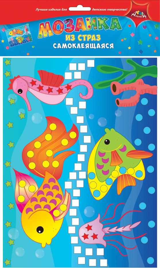 Апплика Мозаика РыбкиС3081-05Мозаика для малышей из цветных самоклеящихся страз. Набор для творчества Рыбки. Формат А4. Набор состоит из: цветной картонной основы, цветных самоклеящихся страз. . Ваш ребенок сможет сделать красивую картину своими руками и повесить их в удобное место. Сами изделия блестят на свету и будут красиво украшать комнату Вашего ребенка