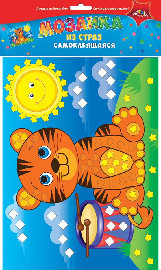 Апплика Мозаика ТигренокС3081-07Мозаика для малышей из цветных самоклеящихся страз. Набор для творчества Тигренок. Формат А4. Набор состоит из: цветной картонной основы, цветных самоклеящихся страз. . Ваш ребенок сможет сделать красивую картину своими руками и повесить их в удобное место. Сами изделия блестят на свету и будут красиво украшать комнату Вашего ребенка