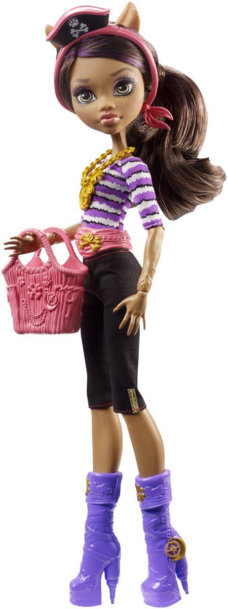 Monster High Кукла Пиратская авантюра Клодин ВульфDTV82_DTV84Кукла Monster High Пиратская авантюра. Клодин Вульф - настоящее сокровище! Клодин - дочь волка-оборотня. Кукла выполнена с потрясающей детализацией - яркое проработанное личико, разноцветные волосы, стильная одежда нестандартного покроя и модная броская обувь. В набор с куклой входит яркая сумочка. Благодаря шарнирам вы можете придать кукле любое положение - у нее гнущиеся руки и ноги и поворачивающаяся голова. Порадуйте поклонницу Monster High удивительной новинкой в мире Школы Монстров, подарив ей эту замечательную куколку.