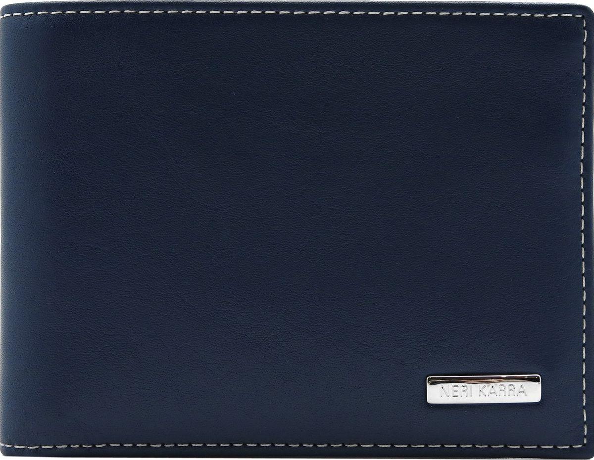 Портмоне мужское Neri Karra, цвет: синий, бежевый. 0274 3-01.09/3-01.650274 3-01.09/3-01.65Портмоне Neri Karra из натуральной кожи выполнено в сочетании двух цветов - синего и бежевого, имеет два отделения для купюр, 7 кармашков для карточек, 3 кармана. Из портмоне вынимается книжечка (7,5 х 10 см), в ней 6 кармашков для карточек.