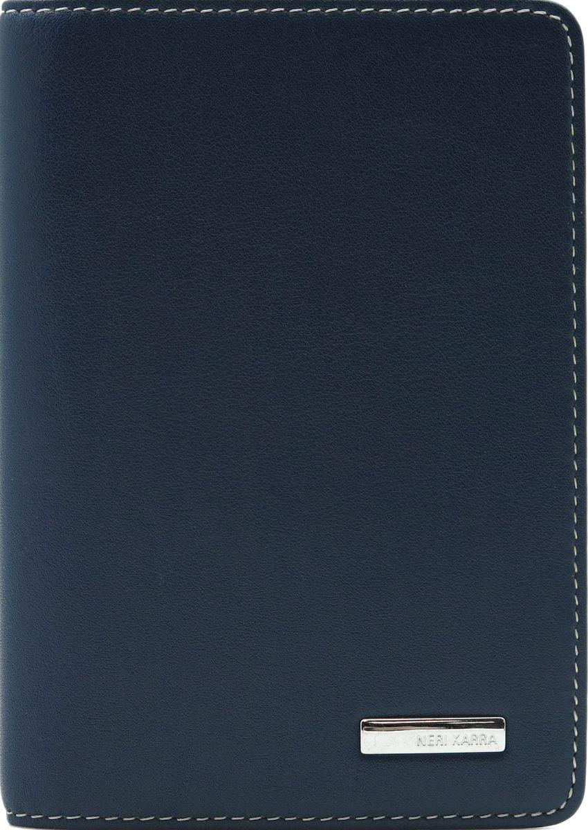 Обложка для паспорта Neri Karra, цвет: синий. 0037 3-01.09/650037 3-01.09/65Обложка для паспорта Neri Karra из натуральной кожи выполнена в сочетании синего и бежевого цветов, внутри дополнительный карман для карты