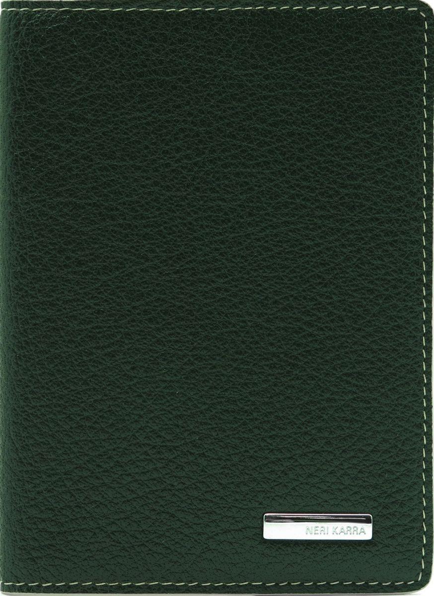 Обложка для паспорта женская Neri Karra, цвет: зеленый, бежевый. 0140 05.06/040140 05.06/04Обложка для паспорта Neri Karra из натуральной кожи выполнена в сочетании двух цветов, снаружи зеленая, внутри - бежевая
