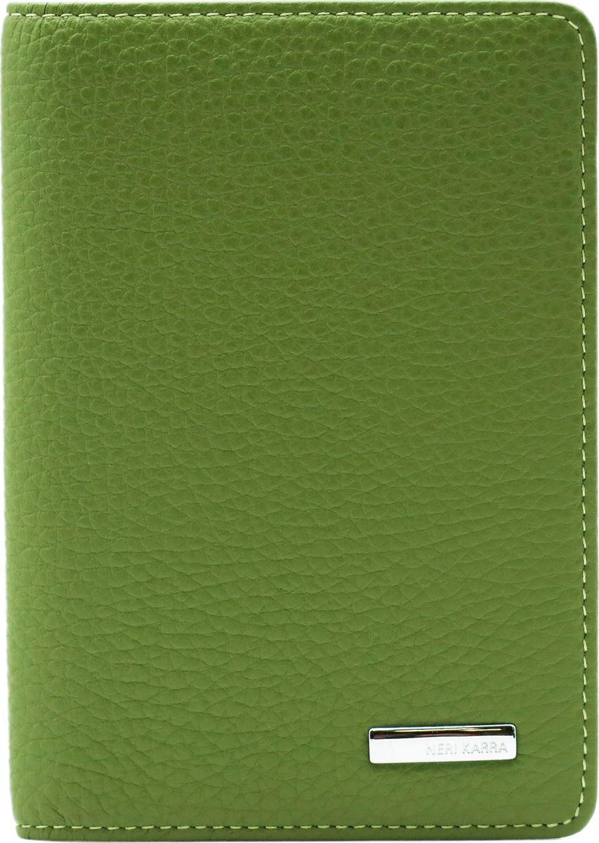Обложка для паспорта женская Neri Karra, цвет: салатовый. 0140 803.34/380140 803.34/38Обложка для паспорта Neri Karra из натуральной кожи выполнена в приятном сочетании двух оттенков салатового цвета.