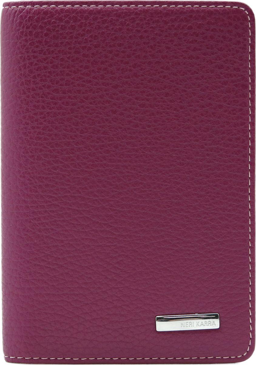 Обложка для паспорта женская Neri Karra, цвет: сиреневый. 0140 803.74/470140 803.74/47Обложка для паспорта Neri Karra из натуральной кожи выполнена в ярком сочетании двух оттенков сиреневого цвета.