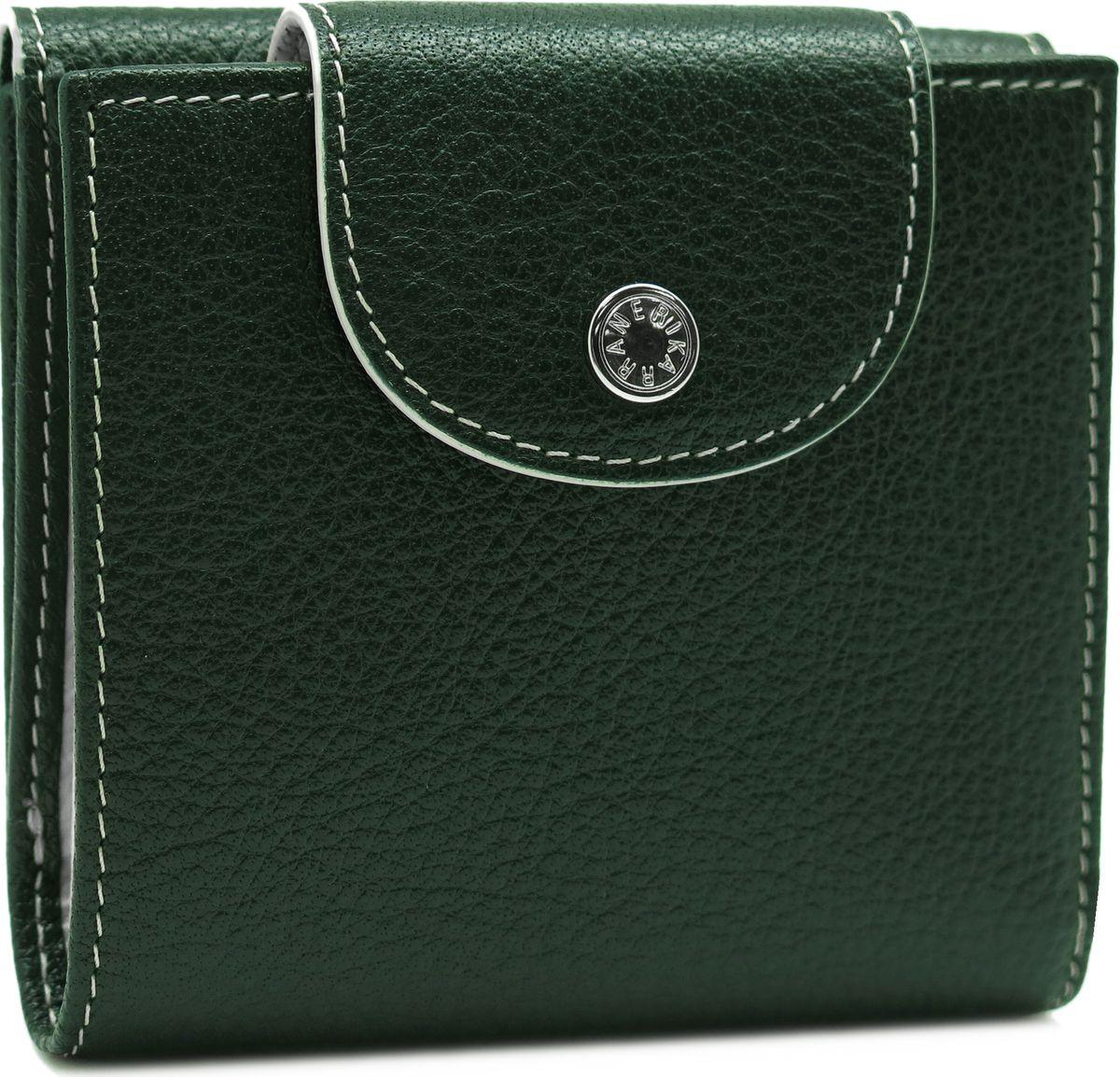 Портмоне женское Neri Karra, цвет: зеленый, бежевый. 0586 05.06/04N