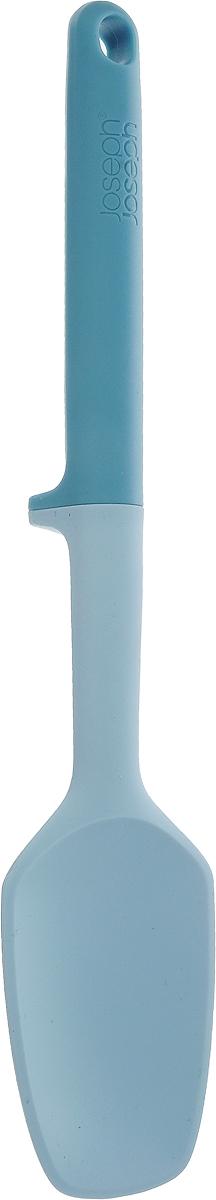 Ложка Joseph Joseph Elevate, цвет: голубой, длина 27 см10133Ложка Joseph Joseph Elevate изготовлена из полипропилена и силикона. Помогает сохранить чистоту во время приготовления пищи. В ручку инструмента встроен утяжелитель и держатель. Таким образом, грязная часть всегда остается на весу, и вы никогда не испачкаете поверхность стола. Ручка оснащена небольшой петелькой, за которую ложку можно подвесить в любом удобном для вас месте. Ложка Joseph Joseph Elevate выдерживает температуру до 270°C. Можно мыть в посудомоечной машине. Общая длина ложки: 27 см. Размер рабочей поверхности: 8 х 5,5 см.