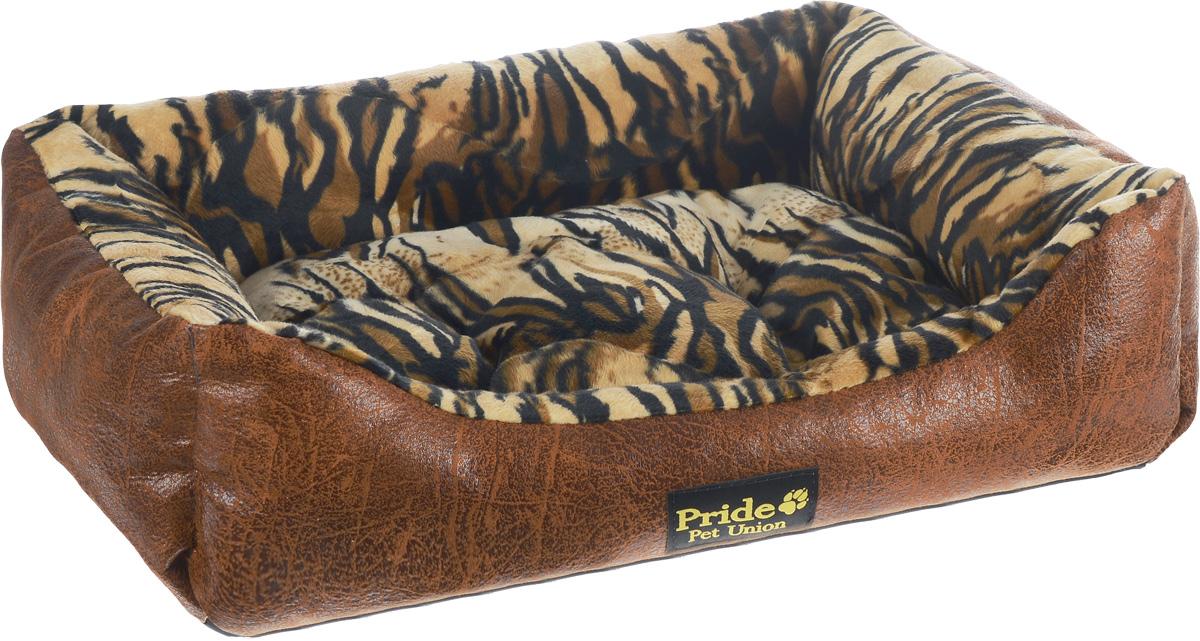 Лежак для животных Pride Тигр, 56 х 50 х 18 см10012051_тигрЛежак для животных Pride Тигр прекрасно подойдет для отдыха вашего домашнего питомца. Предназначен для собак мелких и средних пород. Изделие выполнено из прочной ткани, декорированной красочным принтом. Снабжено невысокими широкими бортиками и съемной мягкой подстилкой. Комфортный и уютный лежак обязательно понравится вашему питомцу, животное сможет там отдохнуть и выспаться. Размер лежака: 56 х 50 х 18 см. Состав: наполнитель 100% холлофайбер, ткань 50% синтетическая ворсовая. 50% замша искусственная.