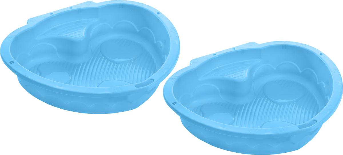 Marian Plast Песочница Сердечко цвет голубой435_голубойПесочница-бассейн Marian Plast Сердечко прекрасно подойдет как для игры на улице, так и в закрытом помещении. Песочница состоит из 2-х частей, что позволяет закрывать ее от дождя. Может быть использована, как бассейн для малыша. В песочнице могу играть сразу два ребенка, каждый в своей половинке. Компактная, легкая песочница изготовлена из безопасного, гипоаллергенного материала.
