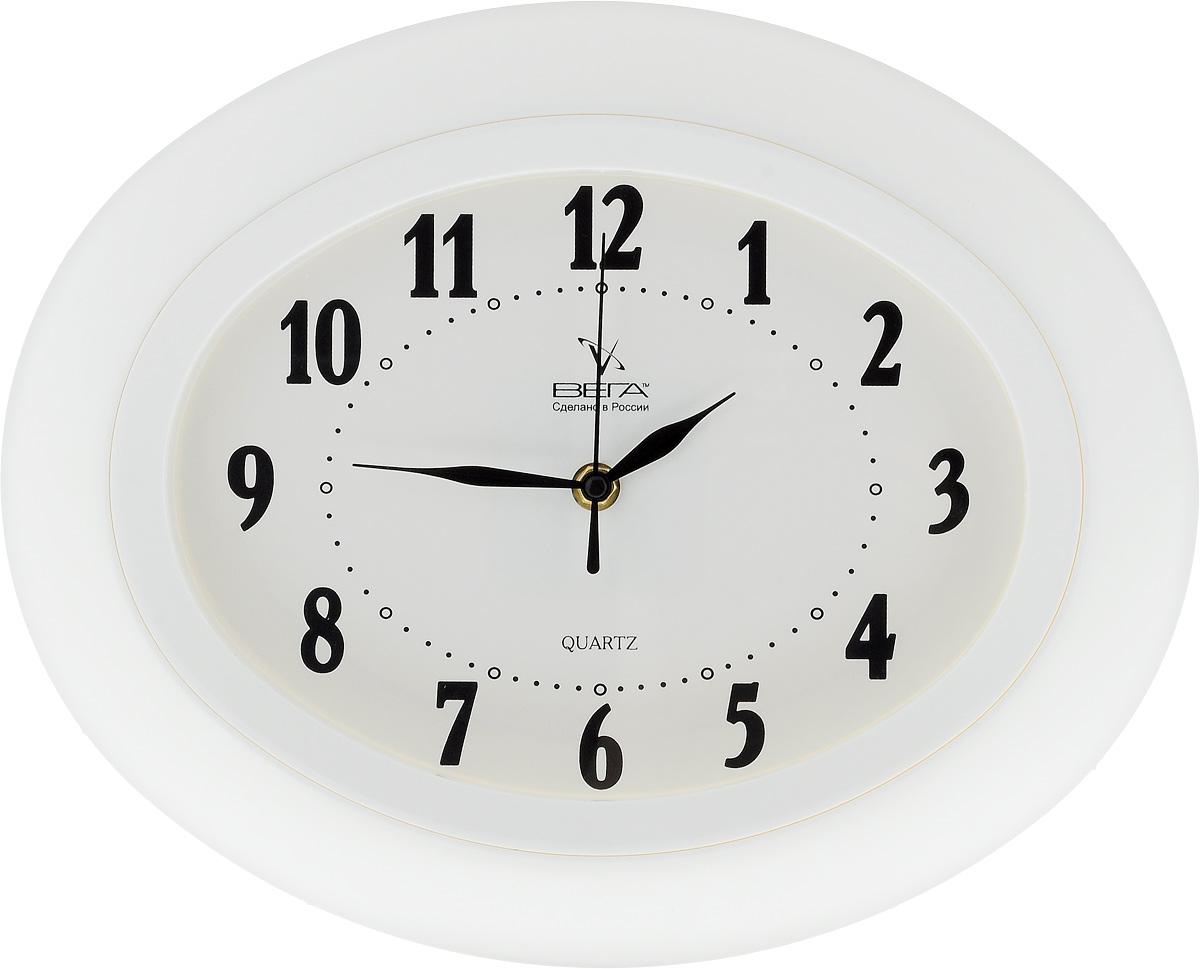 Часы настенные Вега Классика, 34,5 х 27,5 см. П5-7П5-7/7-16Настенные кварцевые часы Вега Классика, изготовленные из пластика, прекрасно впишутся в интерьер вашего дома. Часы имеют три стрелки: часовую, минутную и секундную, циферблат защищен прозрачным стеклом. Часы работают от 1 батарейки типа АА напряжением 1,5 В (не входит в комплект). Прилагается инструкция по эксплуатации.