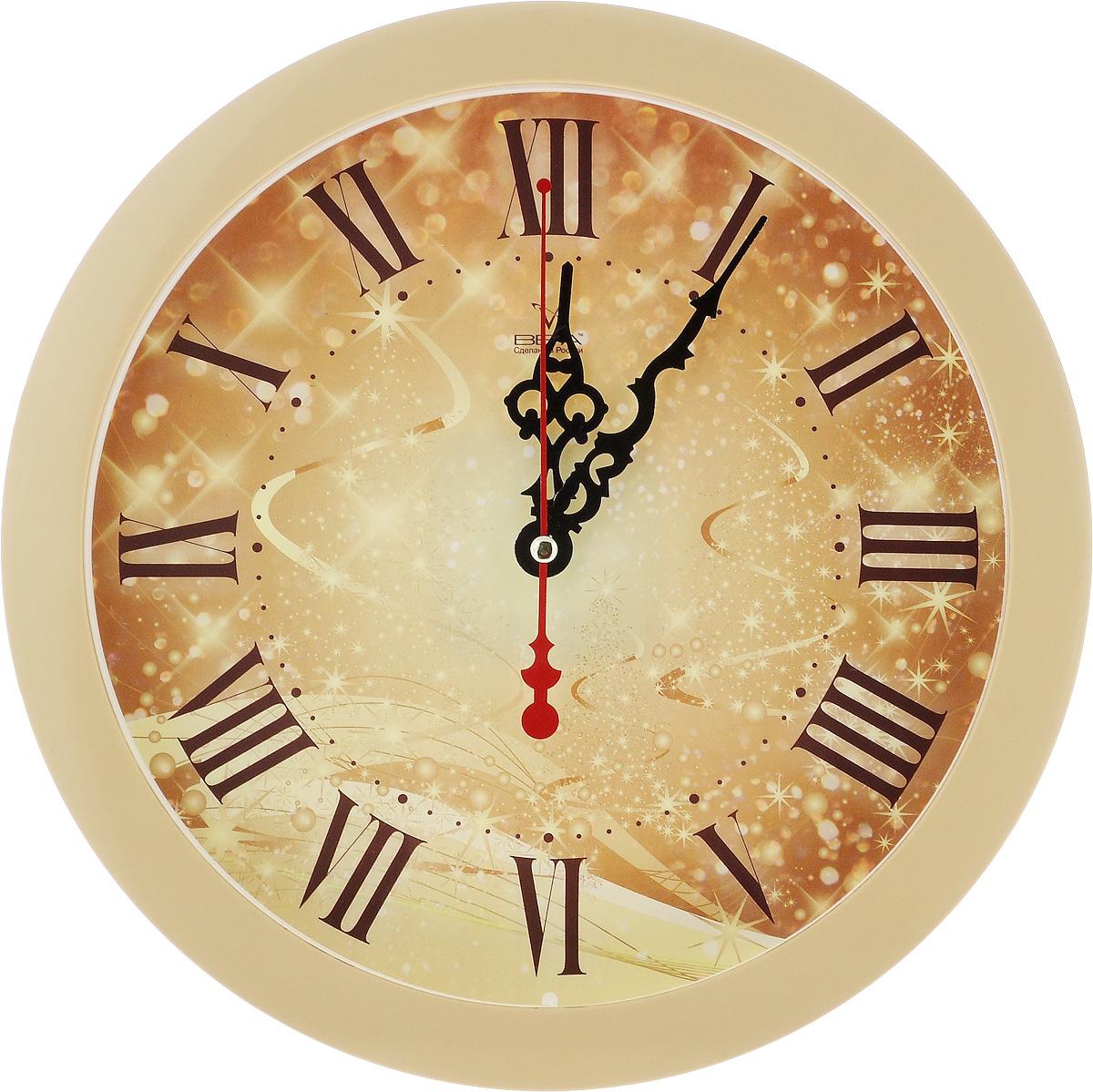 Часы настенные Вега Серпантин, диаметр 28,5 смП1-14/7-306Настенные кварцевые часы Вега Серпантин, изготовленные из пластика, прекрасно впишутся в интерьер вашего дома. Круглые часы имеют три стрелки: часовую, минутную и секундную, циферблат защищен прозрачным стеклом. Часы работают от 1 батарейки типа АА напряжением 1,5 В (не входит в комплект). Диаметр часов: 28,5 см.