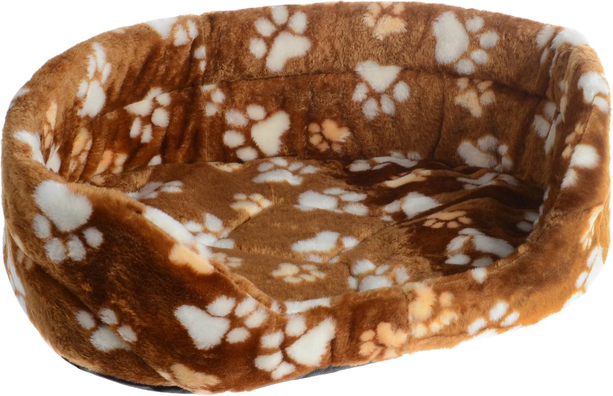 Лежак для животных Elite Valley, цвет: светло-коричневый, бежевый, белый, 55 х 40 х 18,5 см. Л-2/4Л-2/4_светло-коричневый, лапки бежевые и белыеЛежак Elite Valley обязательно понравится вашему питомцу. Изделие выполнено из искусственного меха, а наполнитель - из поролона. Такой материал не теряет своей формы долгое время. Внутри имеется мягкая съемная подстилка. Высокие борта обеспечат вашему любимцу уют, ему сразу же захочется забраться на лежак, там он сможет отдохнуть и подремать в свое удовольствие. Мягкий лежак станет излюбленным местом вашего питомца, подарит ему спокойный и комфортный сон, а также убережет вашу мебель от многочисленной шерсти.