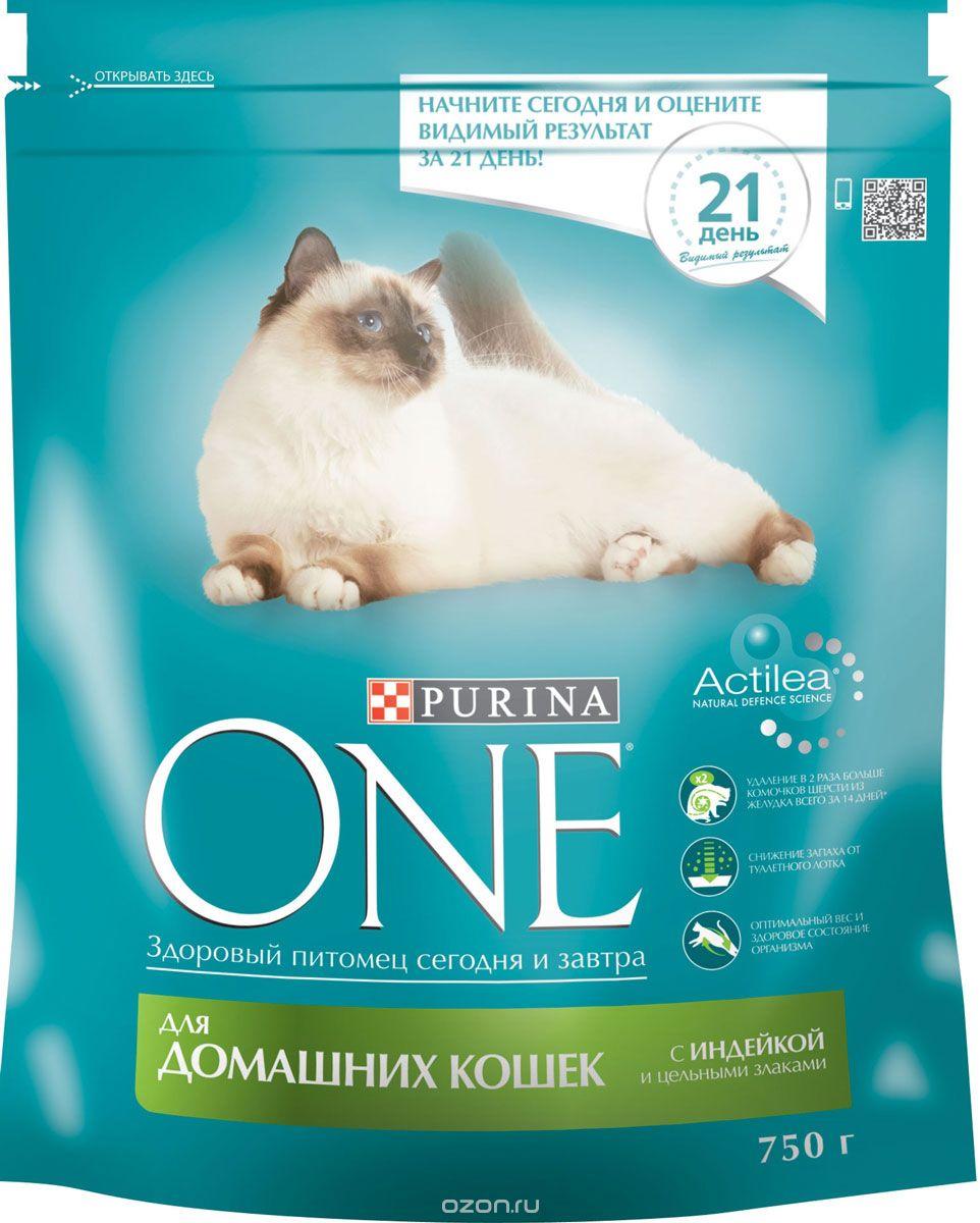 Корм сухой Purina One для домашних кошек, с индейкой и цельными злаками, 750 г12266712Корм для домашних кошек Purina One с индейкой и цельными злаками представляет собой специально разработанное ведущими ветеринарами питание для питомцев, которое обеспечивает оптимальное состояние здоровья и веса животного за счет высокого содержания белка. Но помимо протеина домашним кошкам нужно еще и достаточное количество клетчатки в рационе, которая также входит в состав корма от Purina One. Сухой корм Purina One обеспечивает: - здоровую мочевыделительную систему, благодаря балансу минеральных веществ, - легкую усвояемость, благодаря высококачественным ингредиентам, - удаление в 2 раза больше комочков шерсти из желудка всего за 14 дней, благодаря содержанию клетчатки, - уменьшение неприятного запаха от туалетного лотка, благодаря содержанию цикория, - оптимальное состояние здоровья и веса животного, благодаря содержанию белка. Товар сертифицирован.