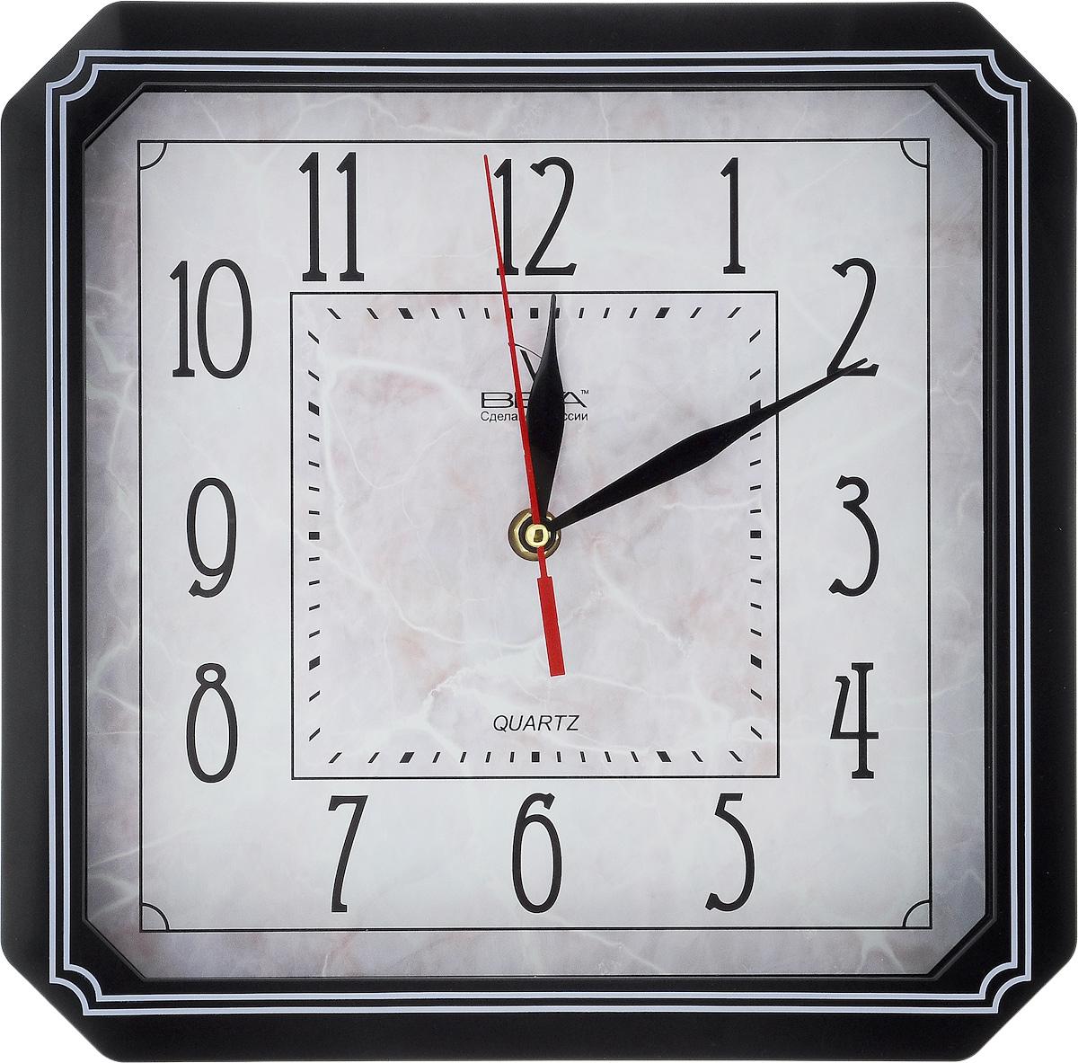 Часы настенные Вега Классика, 27,8 х 27,8 см. П4-61321П4-61321/6-24Настенные кварцевые часы Вега Классика, изготовленные из пластика, прекрасно впишутся в интерьер вашего дома. Часы имеют три стрелки: часовую, минутную и секундную, циферблат защищен прозрачным стеклом. Часы работают от 1 батарейки типа АА напряжением 1,5 В (не входит в комплект). Прилагается инструкция по эксплуатации.
