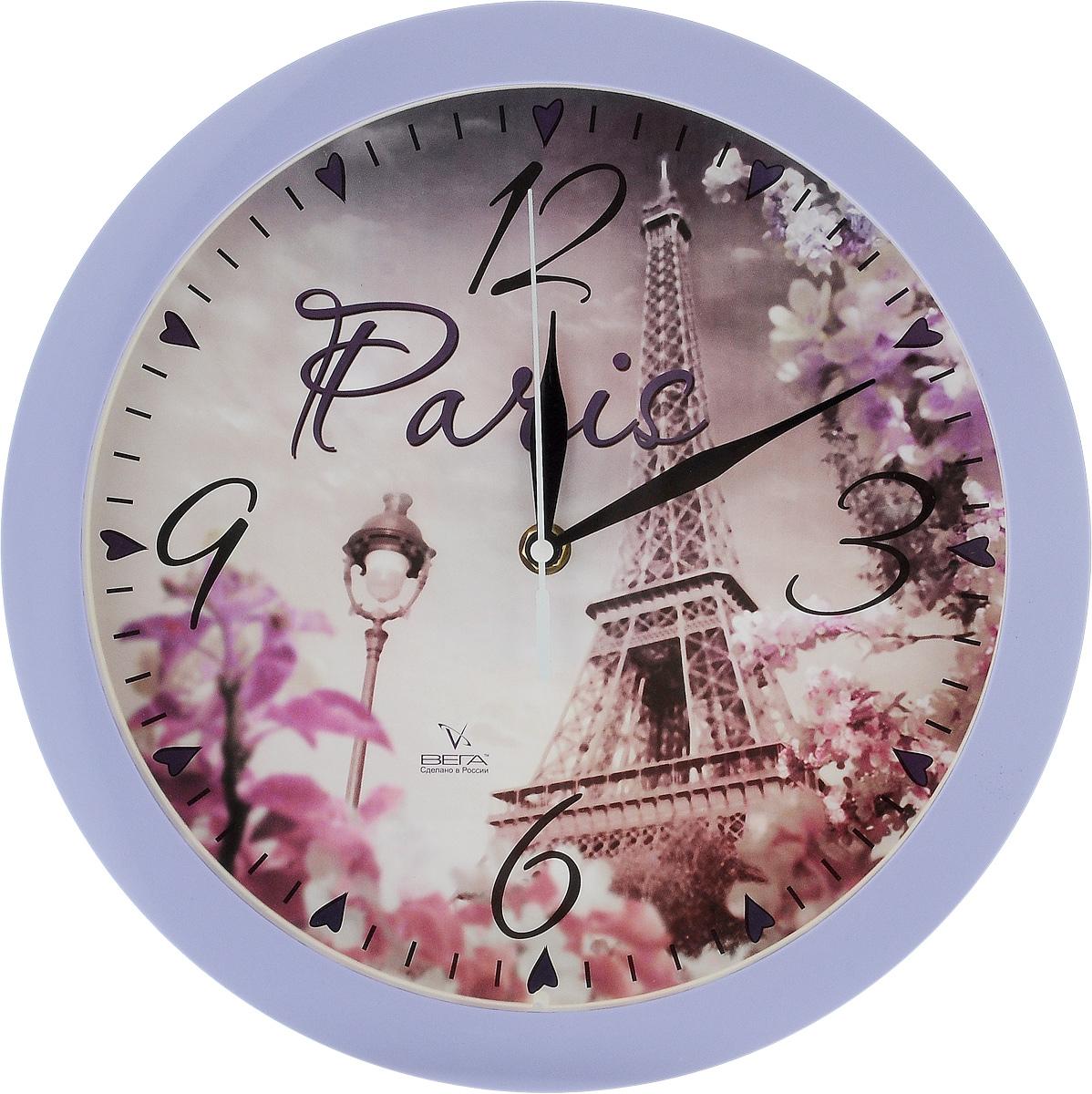 Часы настенные Вега Париж, диаметр 28,5 смП1-13/7-213Настенные кварцевые часы Вега Париж, изготовленные из пластика, прекрасно впишутся в интерьер вашего дома. Часы имеют три стрелки: часовую, минутную и секундную, циферблат защищен прозрачным стеклом. Часы работают от 1 батарейки типа АА напряжением 1,5 В (не входит в комплект). Прилагается инструкция по эксплуатации.