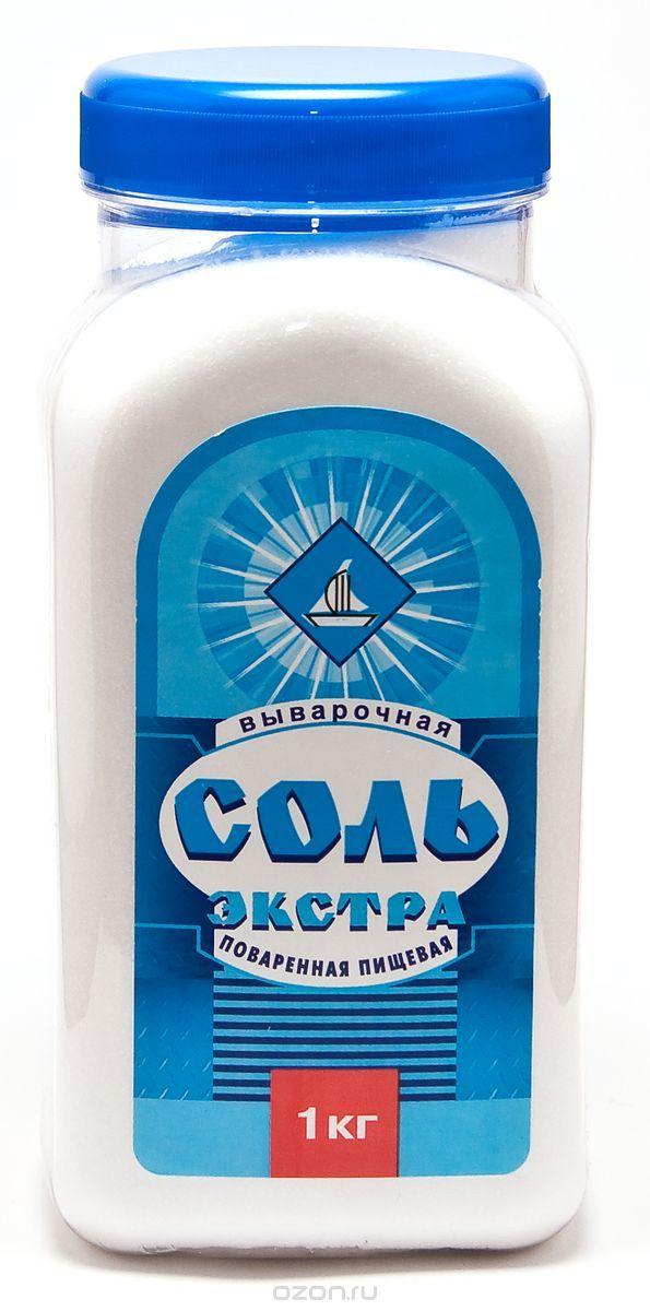 Salina соль экстра выварочная пэт-банка, 1 кг 531