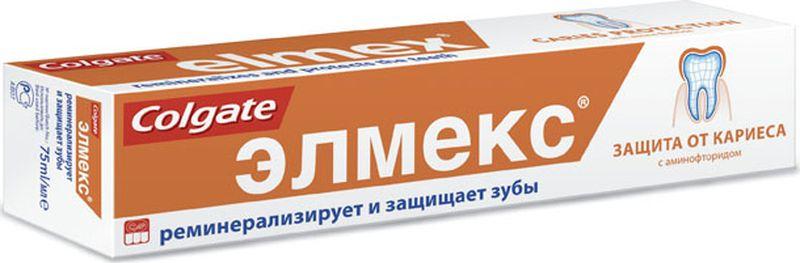 Elmex Зубная паста Защита от кариеса 75мл040405252Зубная паста 75мл -1шт Оптимальное содержание фторида в зубной пасте для взрослых: 1400 ppm F- Высокоэффективная защита от кариеса в течение длительного времени