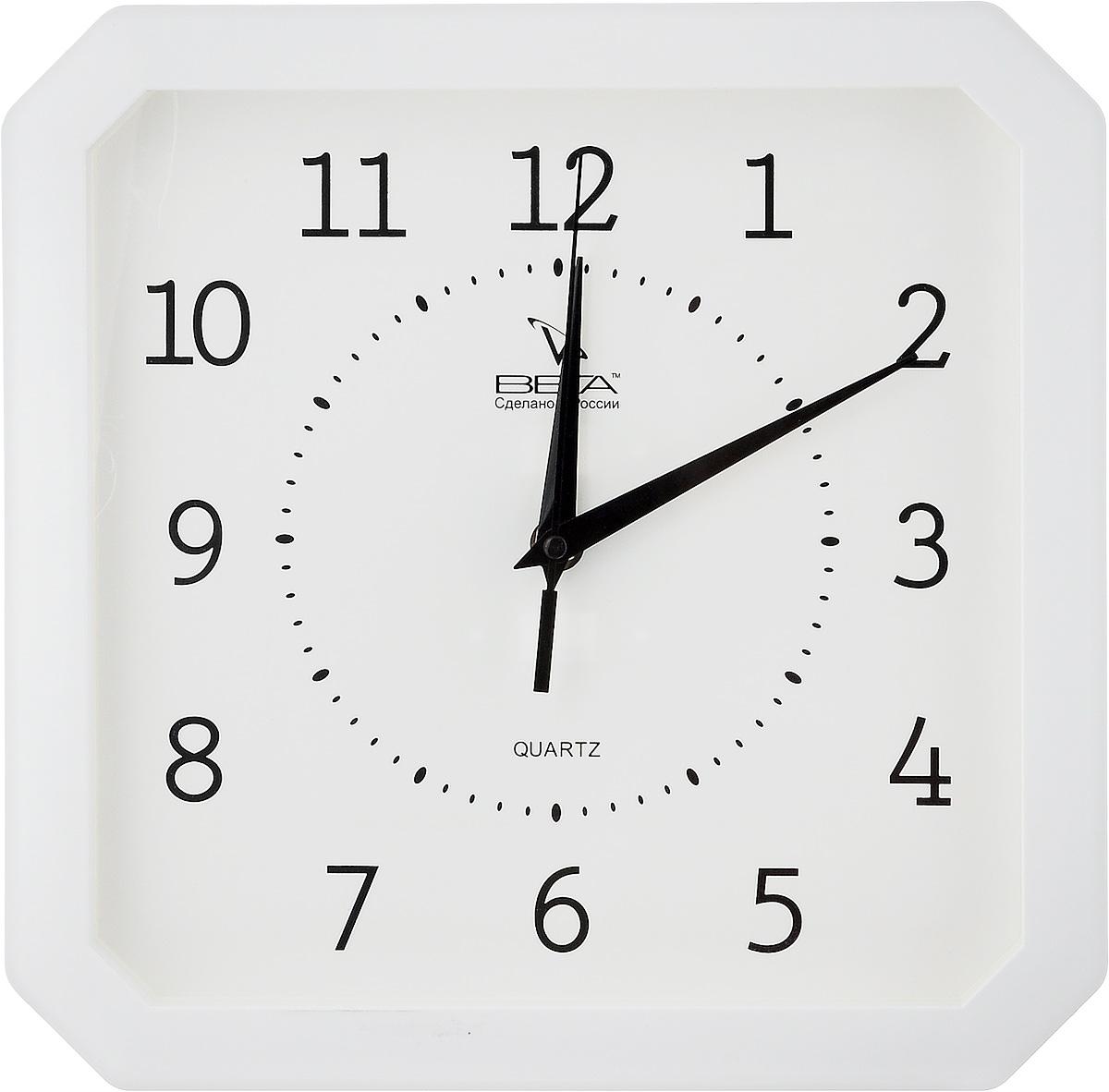 Часы настенные Вега Классика, цвет: белый, 27,5 х 27,5 смП4-7/7-19Настенные кварцевые часы Вега Классика, изготовленные из пластика, прекрасно впишутся в интерьер вашего дома. Часы имеют три стрелки: часовую, минутную и секундную, циферблат защищен прозрачным стеклом. Часы работают от 1 батарейки типа АА напряжением 1,5 В (не входит в комплект).