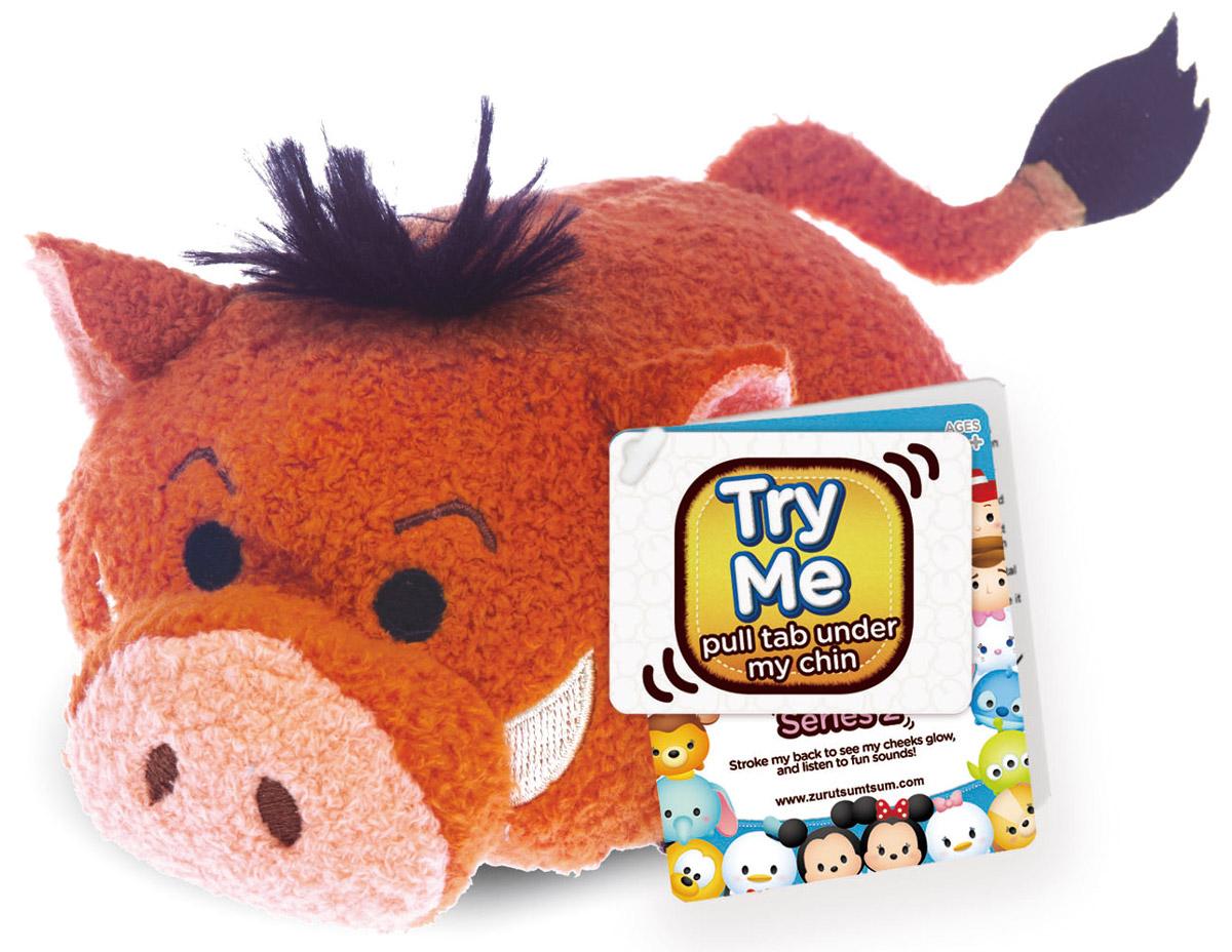 Tsum Tsum Мягкая игрушка Радость5866Q_PumbaМягкая игрушка Tsum Tsum Радость выполнена в виде Радости - героини мультфильма Головоломка. При нажатии у игрушки подсвечиваются щечки и слышен смешной звук. Размер: 9 см х 6,5 см х 6,5 см.