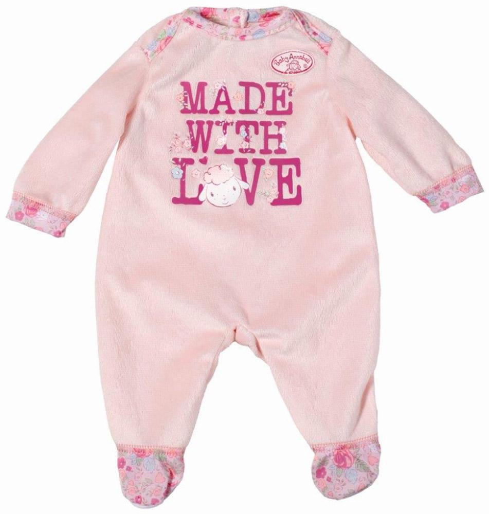 Baby Annabell Комбинезон для куклы цвет светло-розовый794-548_светло-розовыйКомбинезон для куклы подходит ко всем куклам серии Baby Annabell высотой 46 см. Очаровательный плюшевый комбинезончик с длинными рукавами украшен аппликацией с изображением овечки. Сзади застегивается на липучку, благодаря чему очень легко снимается и надевается. Одежда выполнена из высококачественного текстиля, гипоаллергенного и полностью безопасного для здоровья ребенка. Все девочки очень любят переодевать своих кукол, создавая новые образы, а с наборами одежды Baby Annabell образы можно менять хоть каждый день.