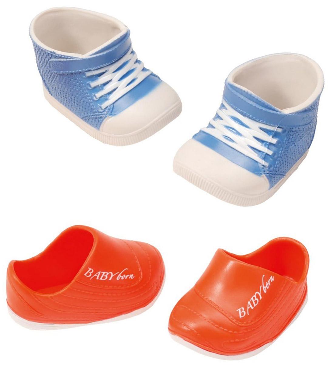 Baby Born Ботиночки для кукол цвет голубой оранжевый 2 пары822-159_голубой, оранжевый