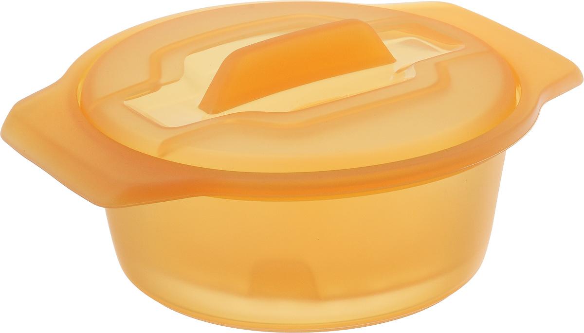 Контейнер-пароварка Tescoma Fusion Diet Revolution, силиконовый, цвет: оранжевый, диаметр 15 см638315_оранжевыйУникальная силиконовая пароварка с внутренней подставкой-решеткой и крышкой. Предназначена для приготовления низкокалорийных блюд на пару и в духовке. При приготовлении в посуде Fusion Diet Revolution внутри контейнеров создается интенсивный микроклимат, который придает блюдам ряд уникальных особенностей. Все предметы изготовлены из термостойкого силикона, выдерживают температуру до 230°С. Подходит для всех типов печей, в том числе микроволновой печи, а также для холодильника и морозильной камеры. Можно мыть в посудомоечной машине. В комплект входит книга с рецептами диетического питания. Диаметр контейнера: 15 см. Длина ручек: 2,5 см. Высота стенки контейнера: 7 см.
