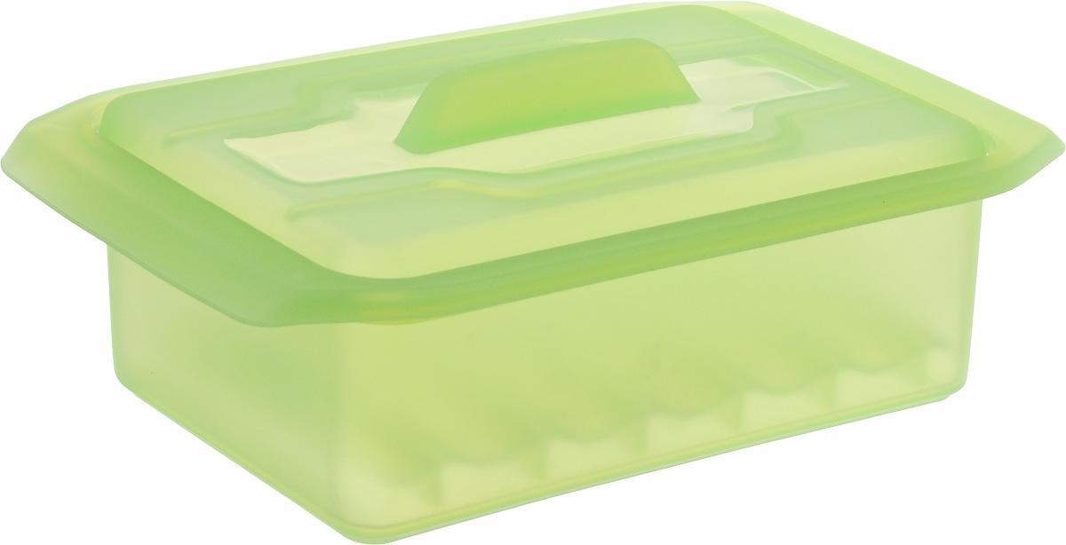 Контейнер-пароварка Tescoma Fusion Diet Revolution, силиконовый, цвет: салатовый, 15 x 8 см. 638330638330_салатовыйУникальная силиконовая пароварка с внутренней подставкой-решеткой и крышкой. Предназначена для приготовления низкокалорийных блюд на пару и в духовке. При приготовлении в посуде Fusion Diet Revolution внутри контейнеров создается интенсивный микроклимат, который придает блюдам ряд уникальных особенностей. Все предметы изготовлены из термостойкого силикона, выдерживают температуру до 230°С. Подходит для всех типов печей, в том числе микроволновой печи, а также для холодильника и морозильной камеры. Можно мыть в посудомоечной машине. В комплект входит книга с рецептами диетического питания. Размер контейнера: 15 x 8 см. Высота стенки контейнера: 6 см.