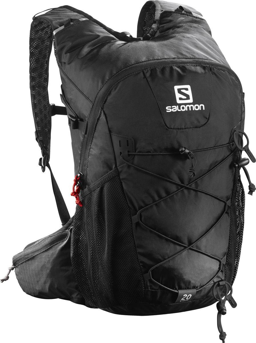 Рюкзак спортивный Salomon Evasion 20, цвет: черный, 20 л. L38239200L38239200Устойчивый и комфортный рюкзак Evasion 20 имеет фиксаторы для палок и другого снаряжения, необходимого во время однодневного похода.