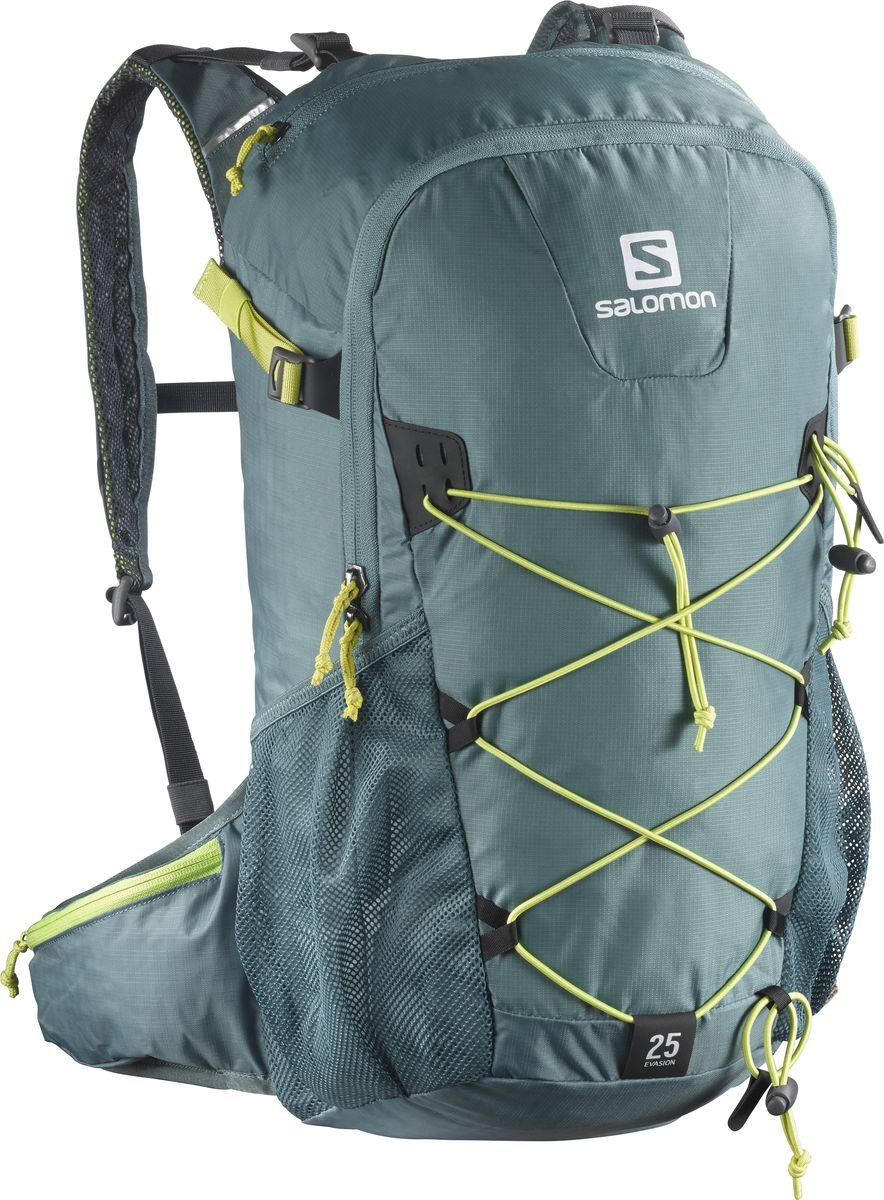 Рюкзак спортивный Salomon Evasion 25, цвет: зеленый, 25 л. L39319500L39319500Устойчивый и комфортный рюкзак Evasion 25 имеет фиксаторы для палок и другого снаряжения, необходимого во время однодневного похода.